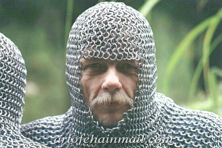 Medieval Chainmail Coif by Dylon Whyte's Art of Chainmail