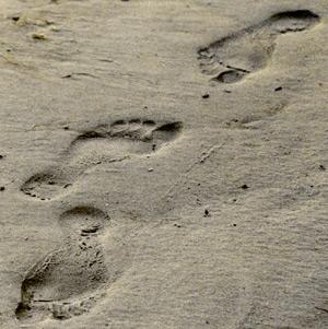Bare Human Footprints in November